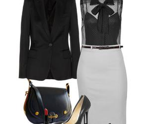 work wear outfit and pencil skirt- blazer image