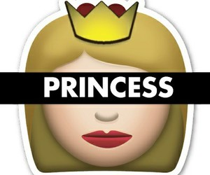 emoji, princess, and girl image