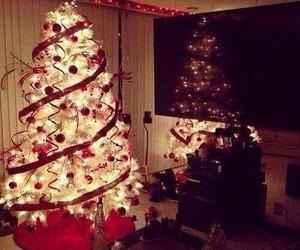 christmas, lights, and red image