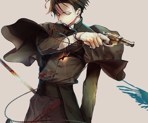 levi, attack on titan, and art image