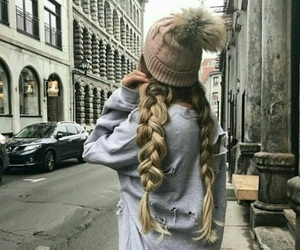 girl, hair, and winter image
