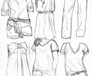 clothes, draw, and manga image