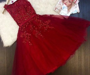 dress, goals, and red image