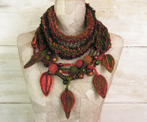 etsy, knit infinity scarf, and gypsy women shawl image