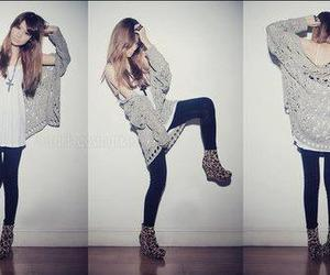 fashion, leopard, and heels image