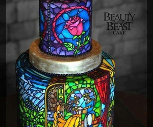 cake, food, and beauty and the beast image