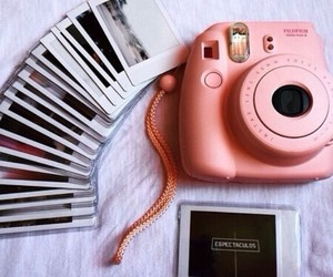 photo, pink, and polaroid image