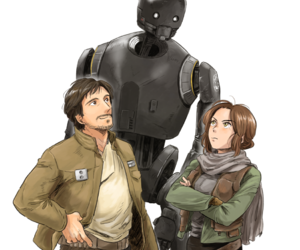 star wars, jyn erso, and k-2so image