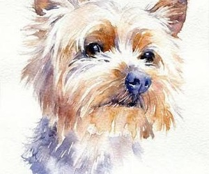 art, puppy, and watercolor image