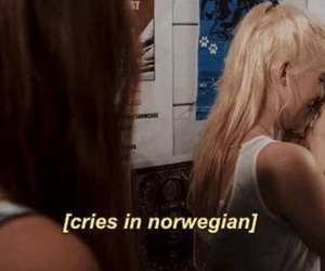 cry, tears, and norwegian image