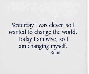 quote, change, and Rumi image