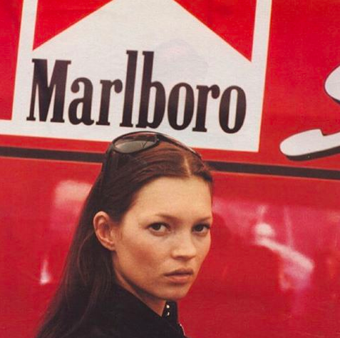 kate moss, model, and marlboro image