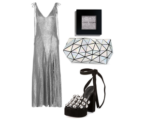 fashion, silver, and silver dress image