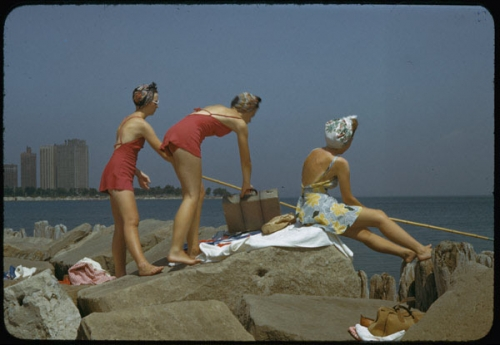 40's, beach, and photo image