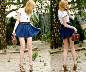 blue, girl, and lookbook image