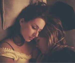 lesbian, sleep, and troian bellisario image