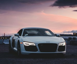 audi, r8, and white image