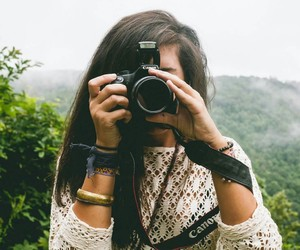 camera, girl, and photography image