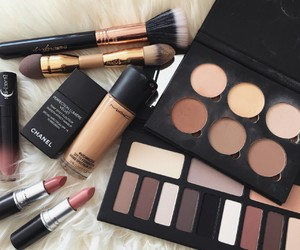 makeup, mac, and lipstick image