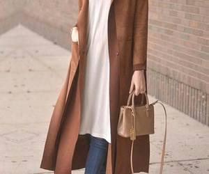 long camel coat hijab image