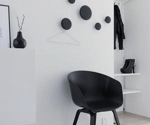 black, chair, and Scandinavian image