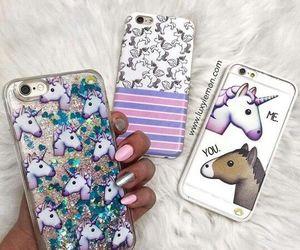 unicorn, cases, and iphone image