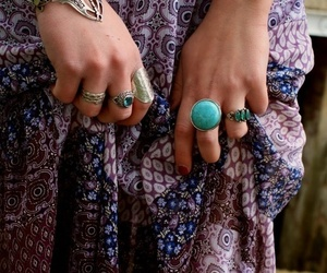 rings, hippie, and boho image