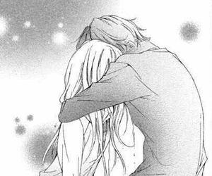 anime, hug, and manga image