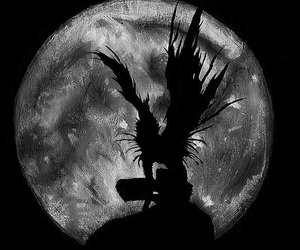 death note, ryuk, and moon image