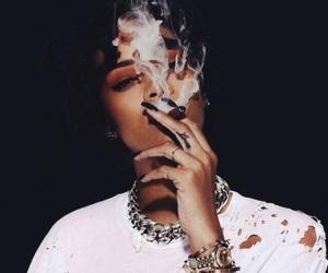 rihanna, smoke, and riri image