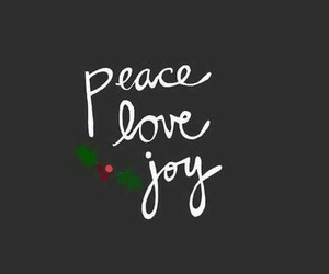 christmas, joy, and peace image