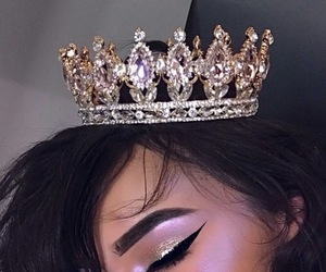 makeup, Queen, and crown image