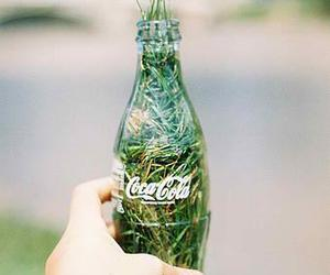 coca cola, green, and hand image