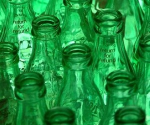 green and bottles image