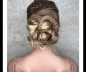 blonde, hairstyle, and braided hair image
