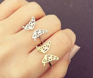 butterfly, rings, and ring image