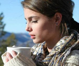 taylor hill, model, and coffee image
