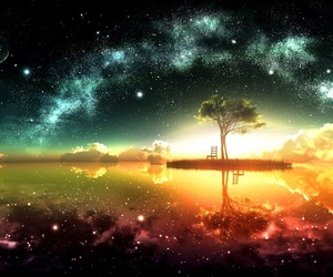 beauty, reflection, and stars image