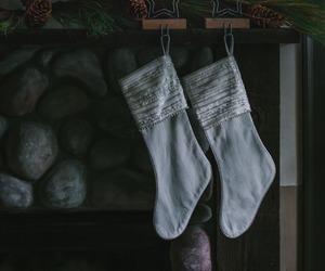 stockings and holiday decor image