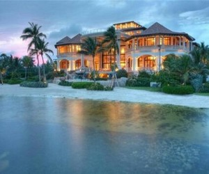beach, house, and tropical image