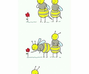 bee, flower, and help image