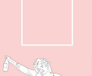 aesthetic, pink, and matty healy image