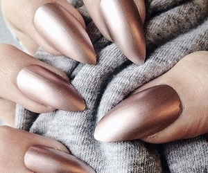 bronze, chrome nails, and gold image