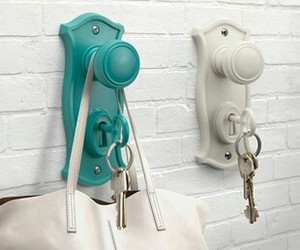 crafts, door knobs, and repurposing image