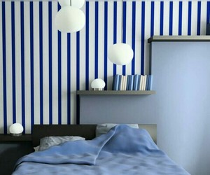 bedroom, sleep, and blue image