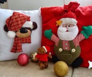 christmas, cushions, and deco image