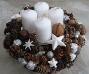 candles, christmas, and navidad image