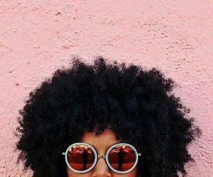 Afro, pastel, and pink image