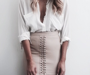 button up, fashion, and lace up image