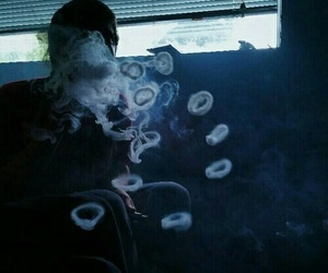 smoke, grunge, and smoking image